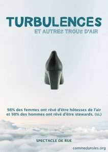 affiche de la comédie spectacle Turbulences